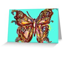GOLD BUTTERFLY Greeting Card