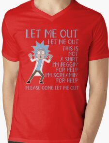 Let me out this is not a SHIRT - Tiny Rick Mens V-Neck T-Shirt