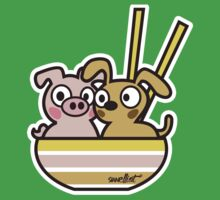 Pig and Dog One Piece - Short Sleeve