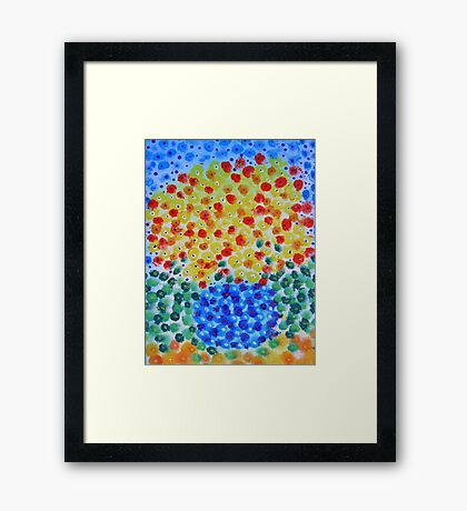 Abstract Bouquet in a Round Vase 2 Framed Print