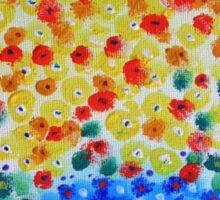 Abstract Bouquet in a Round Vase 2 Sticker