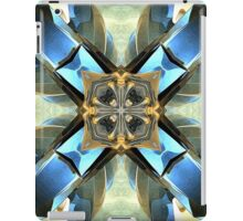 Blue, Green And Gold Abstract iPad Case/Skin