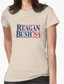 Reagan Bush Womens Fitted T-Shirt
