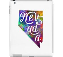 Nevada US State in watercolor text cut out iPad Case/Skin