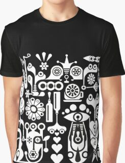 Cubista Black & White Graphic T-Shirt