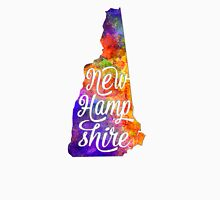 New Hampshire US State in watercolor text cut out T-Shirt