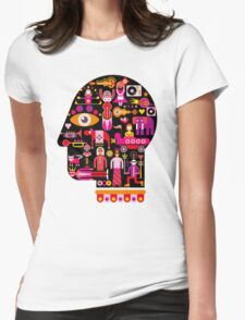 Cubista Face Womens Fitted T-Shirt