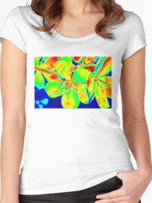 Tropical colour Women's Fitted Scoop T-Shirt