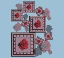 Red Rose One Piece - Short Sleeve