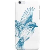 Vintage blue bird iPhone Case/Skin