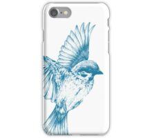 Vintage blue bird iPhone Case/Skin