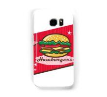 Retro 1950s Diner Hamburger Sign Samsung Galaxy Case/Skin