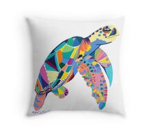 Phychadelic Turtle  Throw Pillow