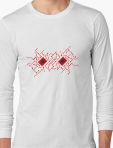 circuitry technology lines microchip disk pattern cool design lines Long Sleeve T-Shirt