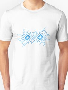 circuitry technology lines microchip disk pattern cool design lines Unisex T-Shirt