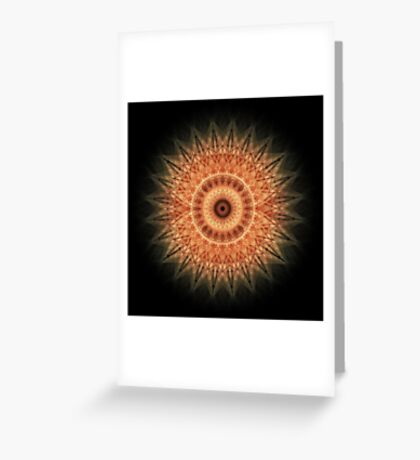 Mandala in red and peach tones Greeting Card