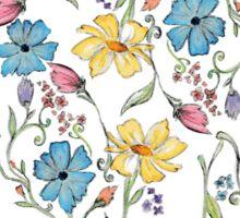 Spring flowers pattern in watercolor Sticker