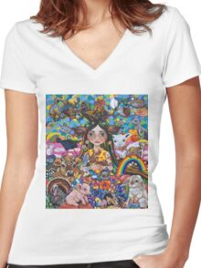 The Protector Women's Fitted V-Neck T-Shirt