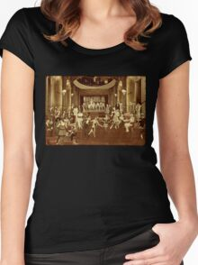 Art Deco Night Club (Golden Edition) Women's Fitted Scoop T-Shirt