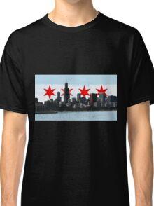 Chicago flag. 3D skyline Classic T-Shirt