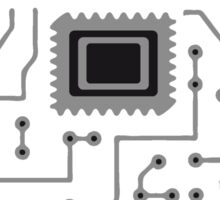 circuitry technology lines microchip disk pattern cool lines Sticker