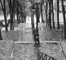 Escalier - Montmartre - Paris Black and White Sticker