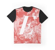 'E' Letter, Vintage Literary Print Graphic T-Shirt