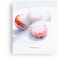 Sugared Strawberries Canvas Print