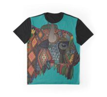 bison teal Graphic T-Shirt