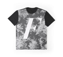 'F' Letter, Vintage Literary Print Graphic T-Shirt