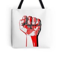 muse uprising fist Tote Bag