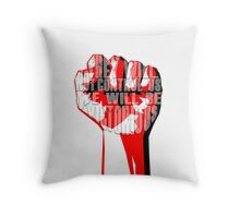muse uprising fist Throw Pillow