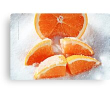 Orange Wages in Sugar Canvas Print