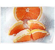Orange Wages in Sugar Poster