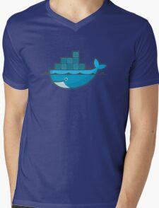 Docker Mens V-Neck T-Shirt