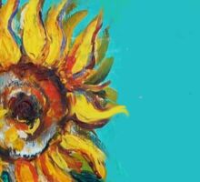 SUNFLOWERS IN BLUE TURQUOISE Sticker
