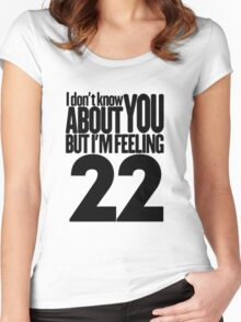 Taylor Swift 22 T Shirt Women's Fitted Scoop T-Shirt
