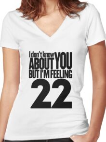Taylor Swift 22 T Shirt Women's Fitted V-Neck T-Shirt