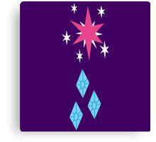 My little Pony - Twilight Sparkle + Rarity Cutie Mark V2 Canvas Print