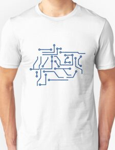 circuitry lines microchip disk pattern cool lines Unisex T-Shirt