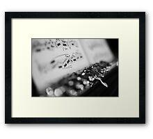 G# Black and White Framed Print