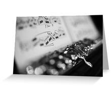 G# Black and White Greeting Card