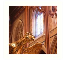 Detail, Saint David's Cathedral, Hobart Art Print