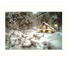 On a snowy Christmas Day Art Print