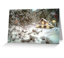 On a snowy Christmas Day Greeting Card