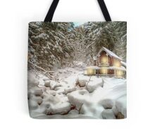 On a snowy Christmas Day Tote Bag