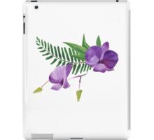 Summer watercolor beautiful tropical flower iPad Case/Skin