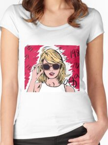 Taylor Swift 1989 Paint Women's Fitted Scoop T-Shirt