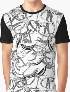 monkey black white Graphic T-Shirt