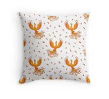 Pattern with Phoenix bird and feathers. Throw Pillow
